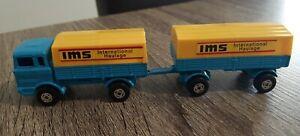 Matchbox Series Superfast Mercedes Benz Truck Trailer Vintage Toy Car M580