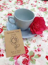 10x Gänseblümchen Samen Hochzeit Geschenk AUSBREITUNG THE LOVE Vintage Garten UK