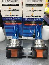 2 x H15 12V 15/55W 80W Xenon SuperWhite Halogen Bulbs PAIR VW BULB DRL HEADLIGHT