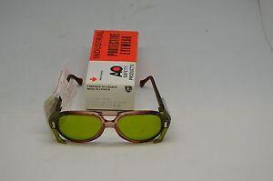 American Optical Carnation Safety Glasses 8054 1.7 Lens 54 Bridge 17. Steampunk