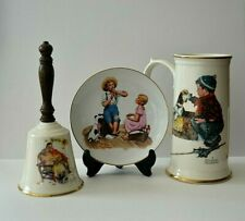 Lot of 3 Norman Rockwell Collectibles~Bell, Stein and Plate (See Photos)