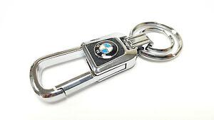 BMW METAL & FAUX LEATHER KEY RING KEY FOB