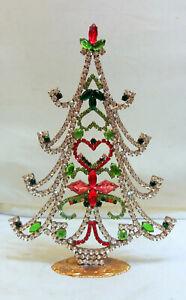 Swarovski Crystal Christmas Tree Handmade, Jewelry Quality, Colorful