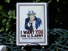 PLAQUE METAL RUE DECORATION 15x21cm I WANT YOU FOR US ARMY oncle sam usa rosie