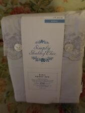 New listing Simply Shabby Chic Gray Embroidered King Sheet Set. Never Opened