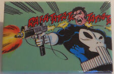 "The Punisher ""RAT-A-TAT- MARVEL ""panel-pin"" ©1986 ~2""x3"" from the comic book art"