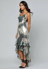 BEBE Landon High Low Ruffle Dress SIZE 8 NWT