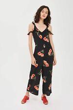 Size 10 Topshop Floral Frill Jumpsuit