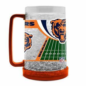 NFL Chicago Bears Crystal Krug Mug Cup Beer Freezer Football Pils