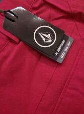 New Womens Volcom Snow Transfer Ski Snowboard Pants Maroon Medium $110 Slim Fit
