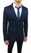 Suit Complete Man Sartorial Dark Blue Summer Slim Fit Tight From 48 A 56