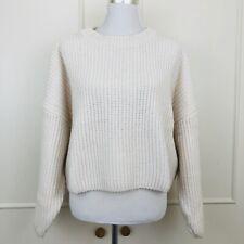 H&M Chunky Knit Oversized Jumper ecru Size S