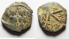 Zurqieh -as8261- Byzantine Empire. Justin Ii & Sophia Bronze Half Follis