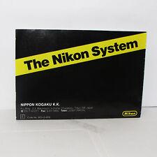 The Nikon System Camera Photo Accessory Guide list for F3 cameras  O31321