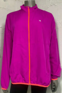 *FLAW*Champion Elite Mock Neck Full Zip Pink Activewear Coat Womens Size XL