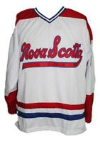 Any Name Number Size Nova Scotia Voyageurs Custom Retro Hockey Jersey White