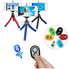Portable Stand Tripod Mount + Phone Holder +Remote Control for iPhone Cell Phone