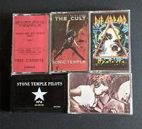 Def Leppard, The Cult, Tesla, Cyclone Temple, Stone Temple Pilots cassette Lot