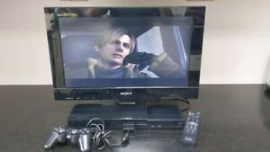 """Rare* Sony Bravia KDL-22PX300 22"""" TV Built-in PlayStation 2 PS2 VG Condition"""
