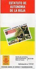 España Estatuto de Autonomía de La Rioja año 1983 (DB-941)