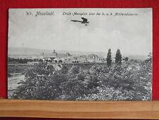 AK - Wiener Neustadt - Monoplan Etrich über KuK. Artilleriekaserne - gel 1918