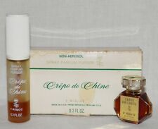 CREPE De CHINE Original F. MILLOT Perfume PURE PARFUM w PURSE SPRAY Vintage