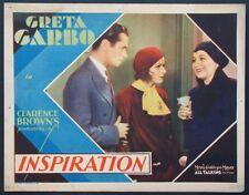INSPIRATION GRETA GARBO ROBERT MONTGOMERY PRE-CODE 1931 LOBBY CARD