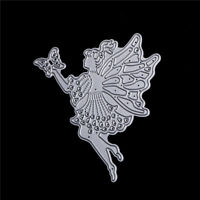 1pc Wings Fairy Girl Scrapbook DIY album Card Metal Die Cut Stencil crafts FF