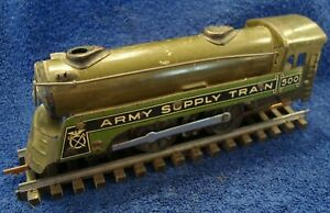 MARX ARMY SUPPLY TRAIN 500 LOCOMOTIVE - PRE WAR MANUFACTURE