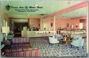 Alamogordo, New Mexico Postcard DESERT AIRE MOTOR HOTEL Highway 54 Roadside