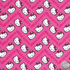 Sanrio Hello Kitty Chevron Print Pink Quilt Cotton Fabric By the Yard