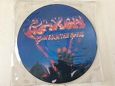 "Saxon 12"" picture LP - Power & the glory"