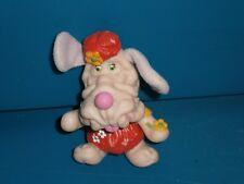 Vintage Wrinkles Girl Dog Vinyl Finger Puppet by LJN Toys 3½ inch c1980s