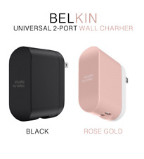 Universal 2-Port USB Fast Home Wall Charger Up To 24W 4.8AMP by Belkin
