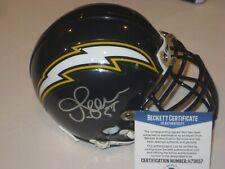 JUNIOR SEAU Signed San Diego CHARGERS Mini-helmet w/ Beckett COA