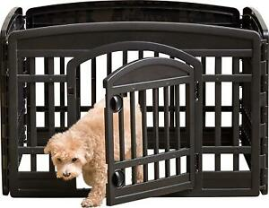 Dog Playpen - Pet Exercise Pen with Door - 4 to 8 Panel Sizes