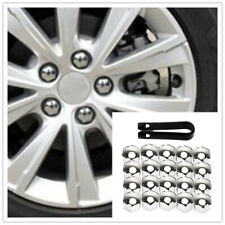 Universal 20×17mm Chrome Car Wheel Nut Caps Auto Hub Screw Cover Lug Nur Cover