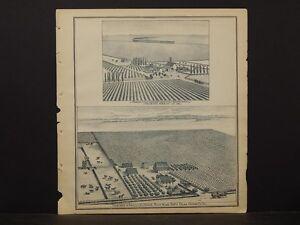 California, Fresno County Map, 1891 Vineyard & Ranch S.L. Hogue !L2#35