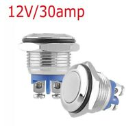 30A 12V DC16mm IP67 Waterproof Metal Momentary Button Switch Stainless Steel Hot