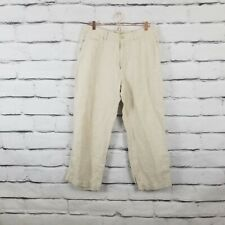 OLD NAVY SURPLUS Womens Size 36×30 100% Linen Wide Leg Pants Tan (7)
