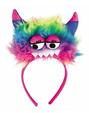 Monster Headband With Gloves Womens Adult Pink Costume Set