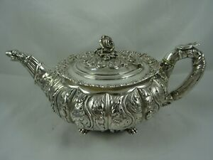 FANTASTIC, GEORGE IV solid silver TEA POT, 1824, 786gm