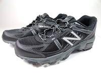 New Balance Mens Sz 8.5 Black Silver MT410BS4 Trail Running Shoes D Width NIB