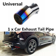 DIY Car Stainless Steel Colorful 85x63mm Rear Round Exhaust Tailpipe Muffler Tip