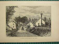 C1890 Antiguo Print ~ a Canadian Aldea Beaufort como Quebec ~ Canadá