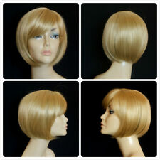 BOB HAIR FRINGE PARTING HIGH HEAT RESISTANT GOLD LADY WOMENS DAILY FULL WIG UK