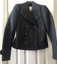 NWT Coach Petite Shearling Button Mini Pea Coat Size XS Navy