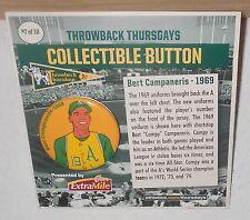 2015 SGA Oakland A's Bert Campaneris Kansas City Athletics Retro Button Pin MOC