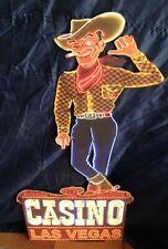 "XXL Blechschild: Casino Las Vegas Cowboy ""Vegas Vic"" - 80 cm x 37 cm Vegas Strip"