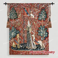 "Tapisserie Medieval ""La Dame à la licorne"" - Toucher, Coton 100%, 107 x 139cm"